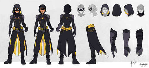 Batgirl - Cassandra Cain - Model Sheet