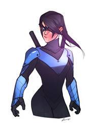 Sketch - Lady Nightwing by charlestanart