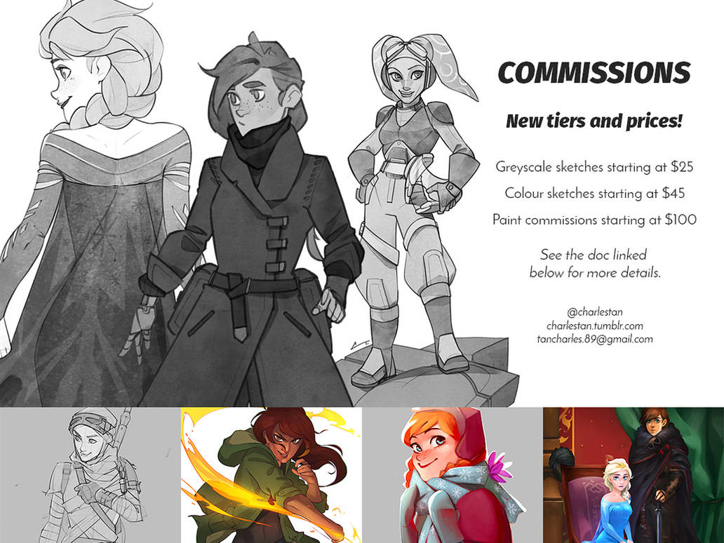 New Commission Prices + Tiers by charlestanart