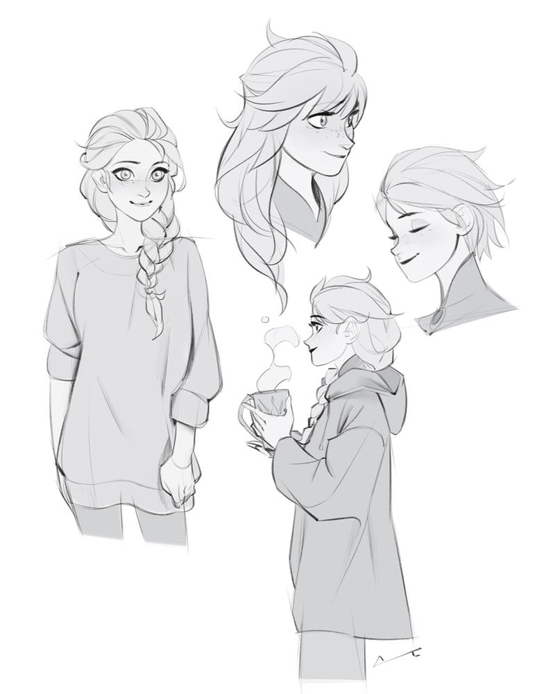 Sketches - Elsa by charlestanart