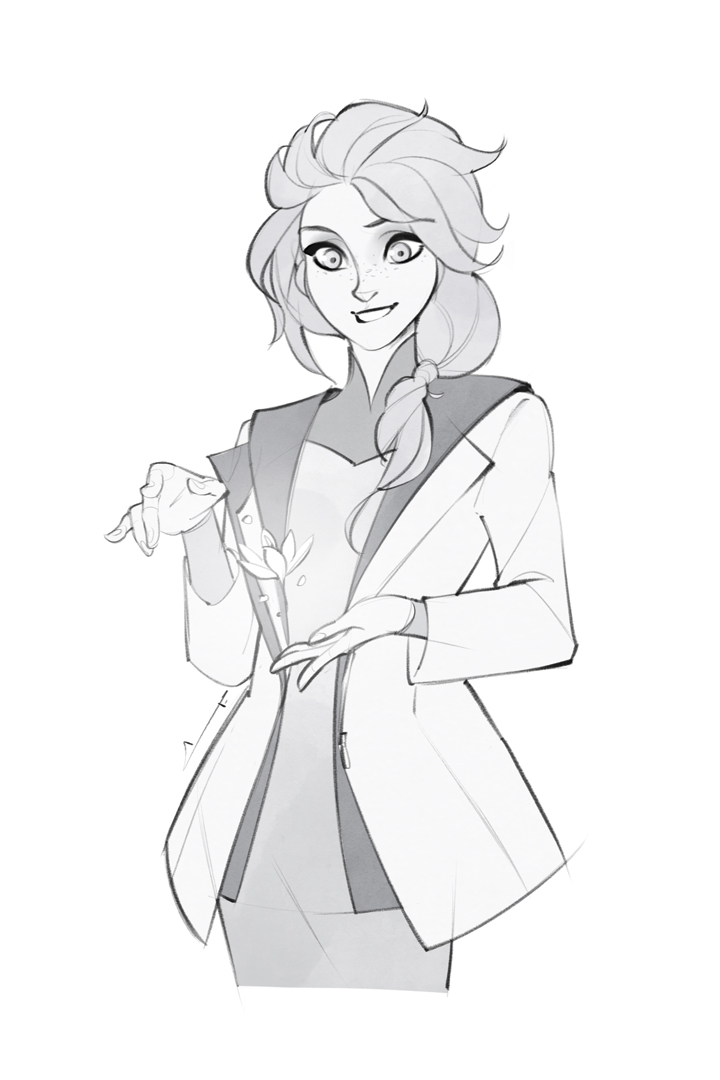 Sketch - Elsa by charlestanart
