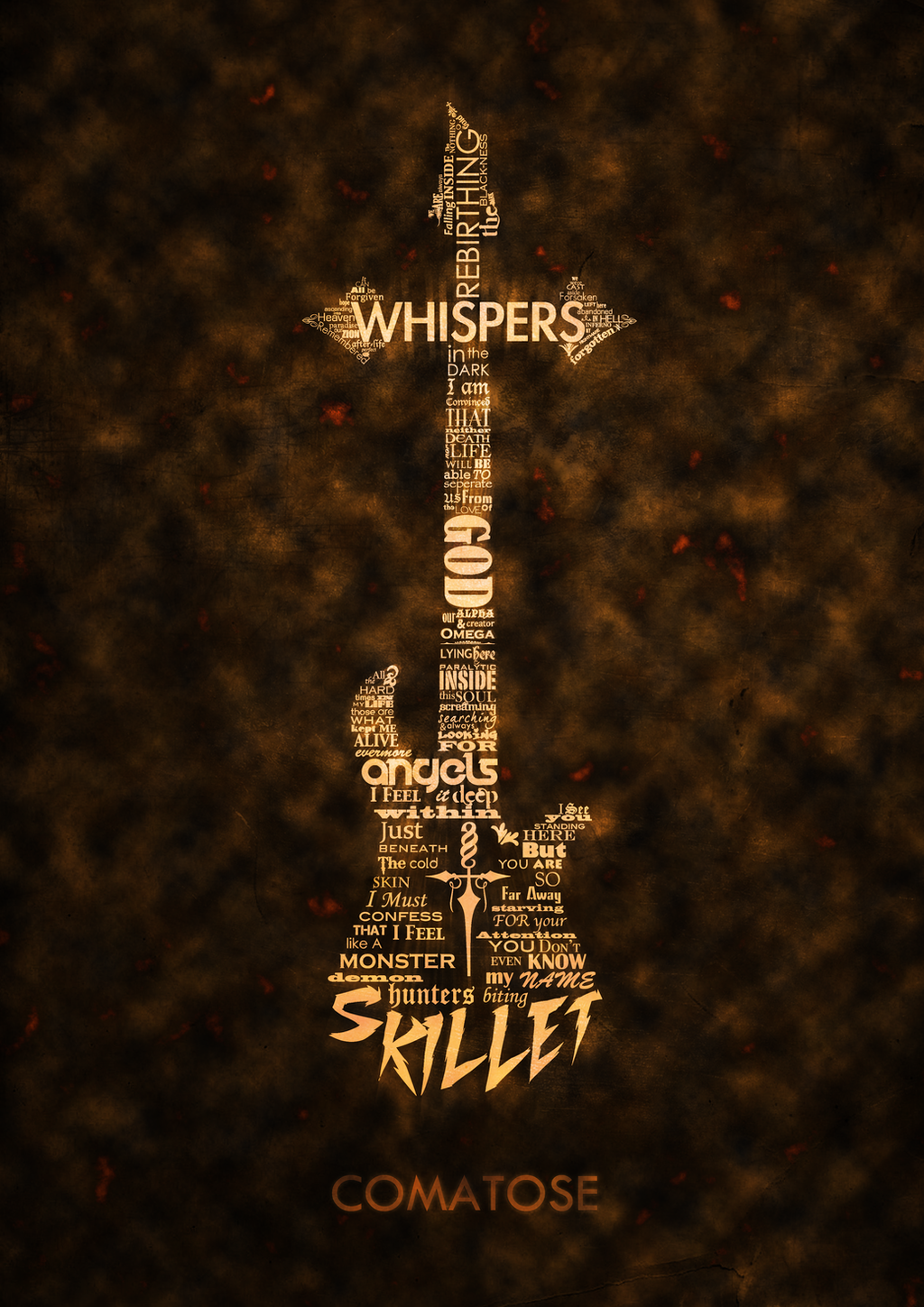 skillet cover typography by numb5kull on deviantart