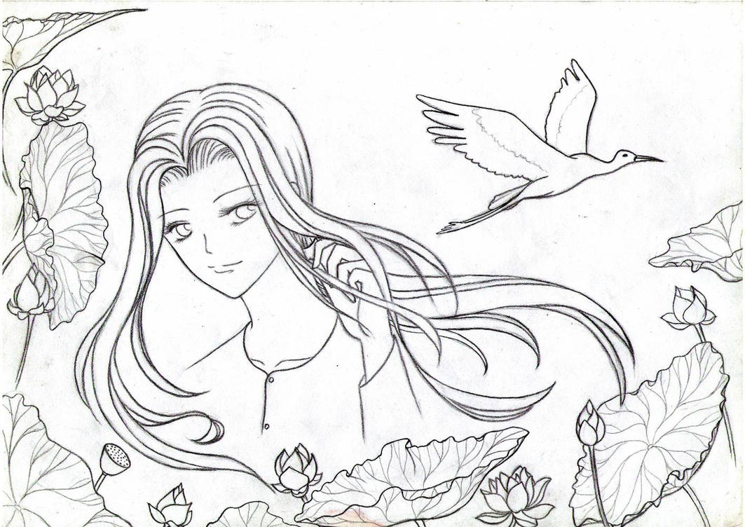 Free sketch white crane by pansy88 on deviantart for Sketch online free