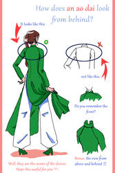 How does an ao dai look from behind?