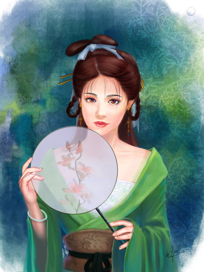 The Girl Of Tang Dynasty By Xiuyuan On Deviantart