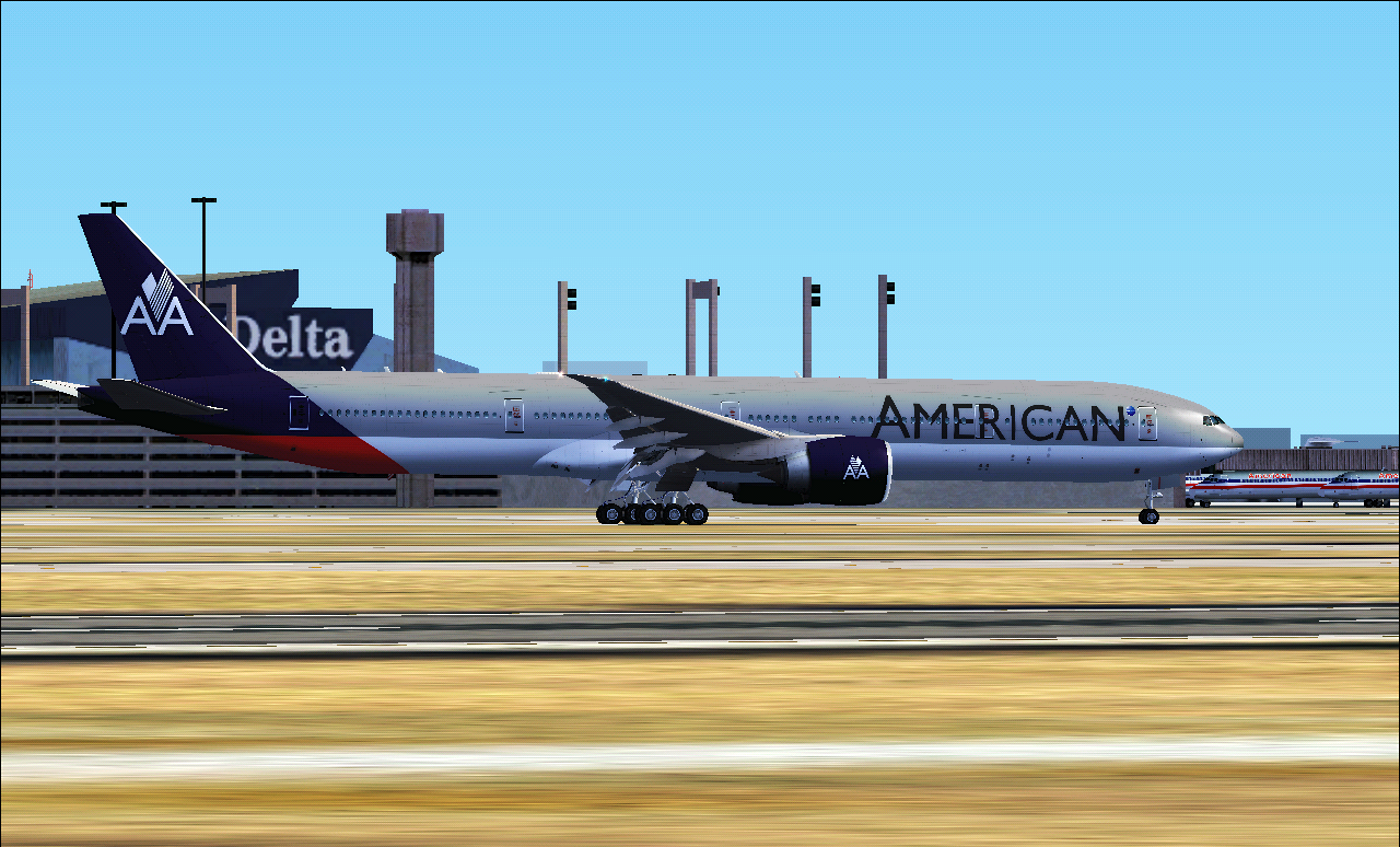 American Airlines Interim Livery 2012 By Bigboeing On