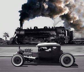 Car Vs. Locomotive by UPSteam