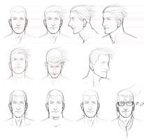 Male Face Study by Angelus-Tenebrae