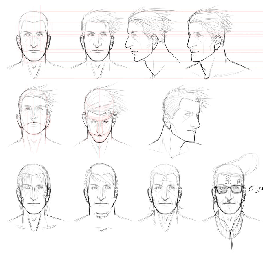 Male Face Study By Angelus-Tenebrae On DeviantArt