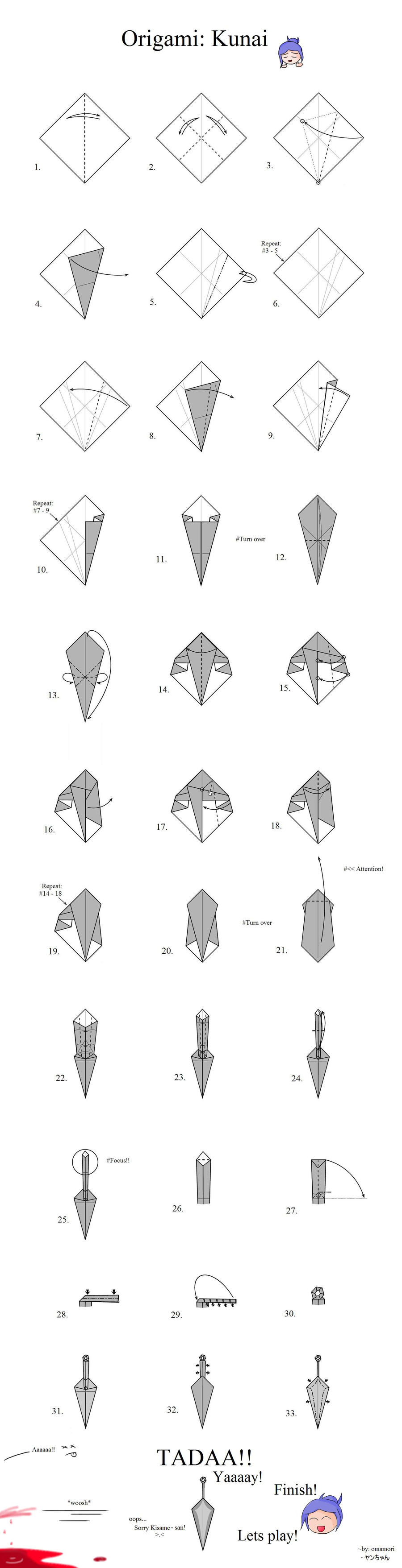 Origami Butterfly Directions