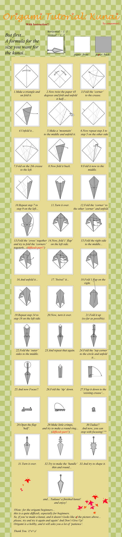 Origami Sword Diagrams 2551162 Narsil Origamiyard This Page Contains All Info About