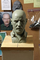 Heisenberg bust - final clay sculpture by CG-imagery