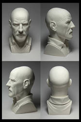 Heisenberg Bust - four angles by CG-imagery