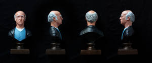 Larry David bust (painted)