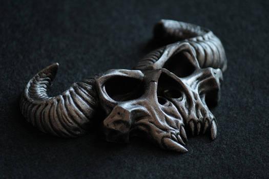 Demon Skull Belt Buckle