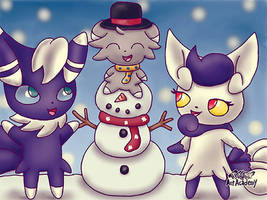 Meowstic Family Christmas