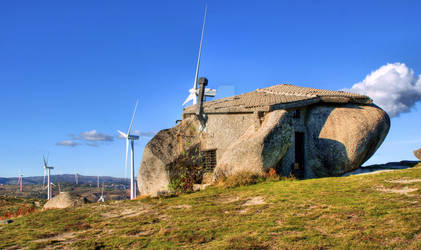 Stone house in eolic park, Fafe