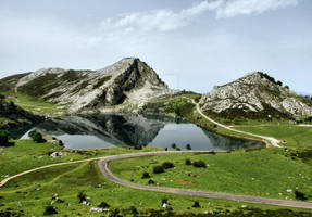 Enol lake in Covadonga, Asturias