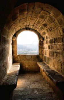 Window of Monterrey castle, Verin (Spain)