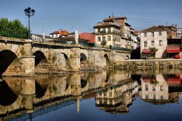 Roman Bridge at Chaves, Portugal