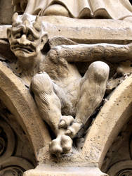 Notre Dame bestiary in Paris, France