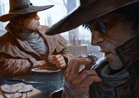 Judges-eating-soup by Marko-Djurdjevic