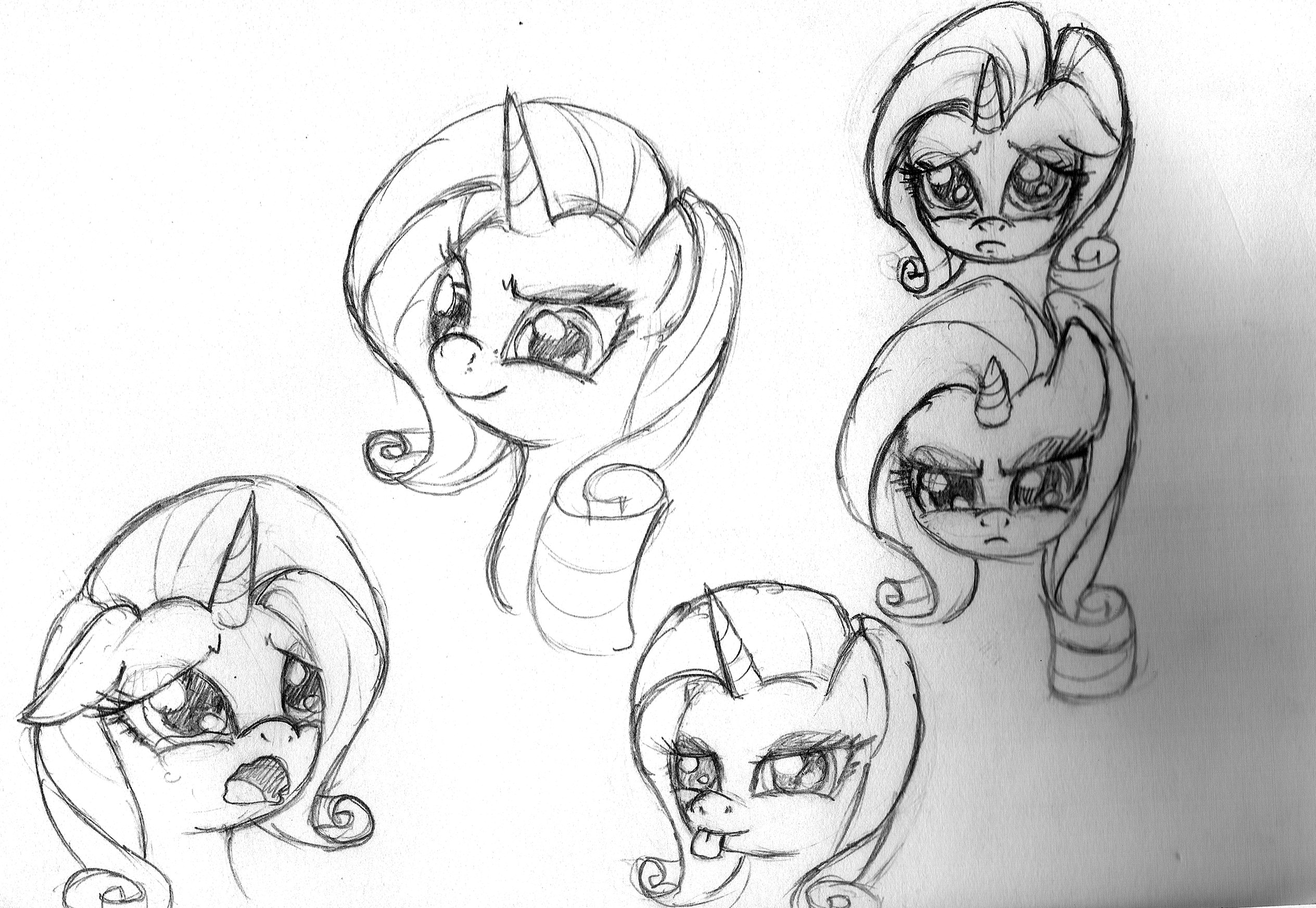 Rarity Sketch Dump by leadhooves