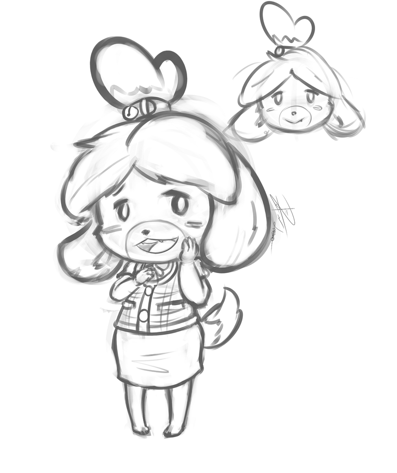 Isabelle By Leadhooves On Deviantart Animal Crossing New Leaf Coloring Pages