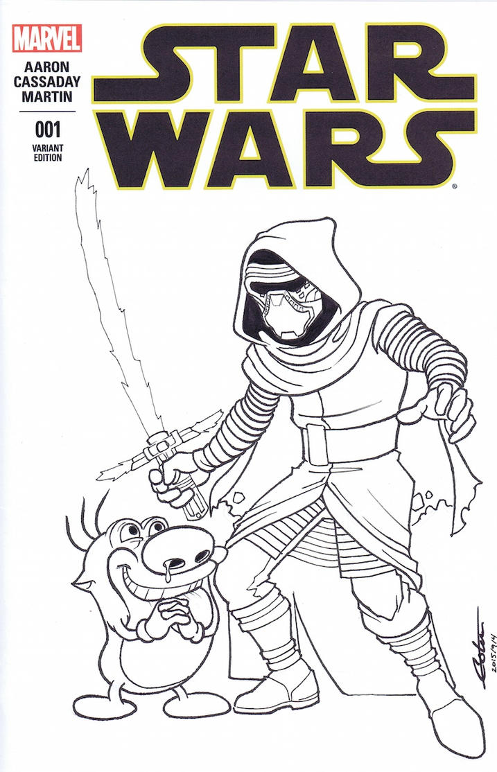 Ren and stimpy free coloring pages for Kylo ren coloring page