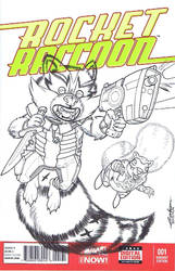 Rocket Raccoon and Chp by Pencilero