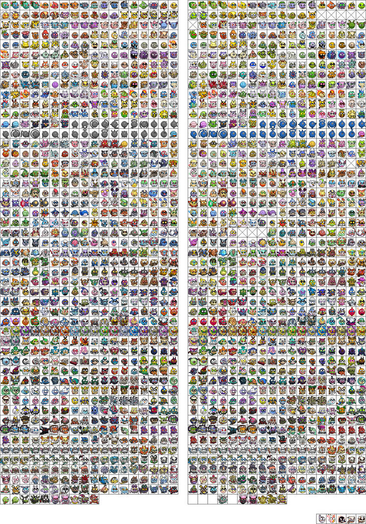 Pokemon smileys ULTIMATE PROJECT by Voltorb