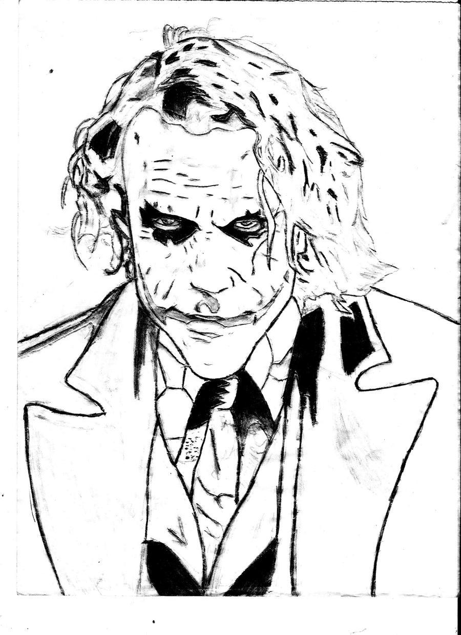 The Joker Line Art : Joker by famo on deviantart
