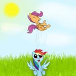 Happy day with Rainbow dash (scootaloo happy day)