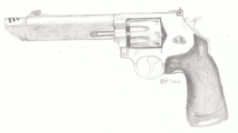 how to draw a revolver on paper