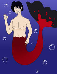 Connor (Mermaid au) by Sourraspberry