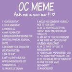 Ask me about my ocs cos' I'm bored
