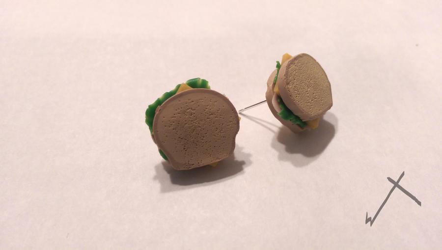 Sandwich Earrings by The-Erin-show