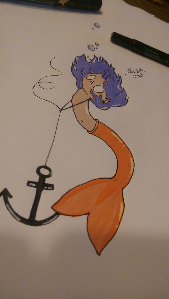 Tiny Female Merperson by The-Erin-show