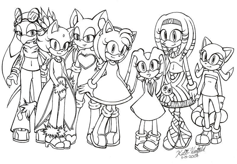 Sonic X coloring pages for kids
