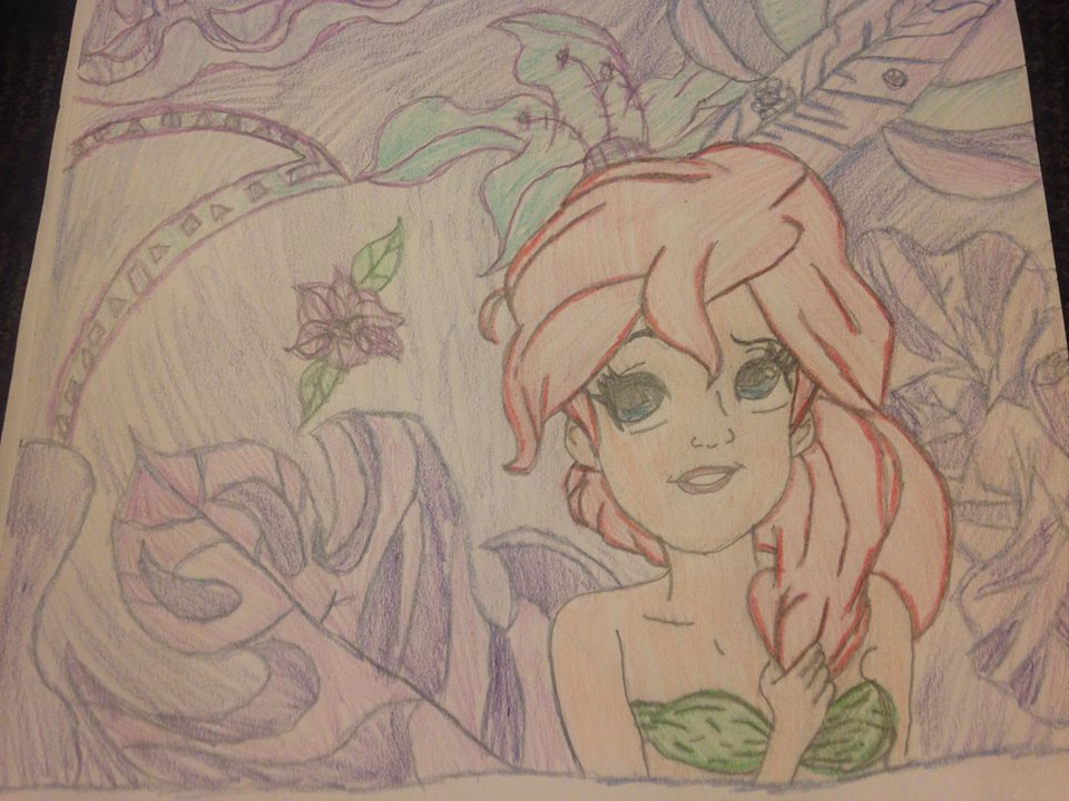 Ariel drawing July 1, 2018 by nightangel5431