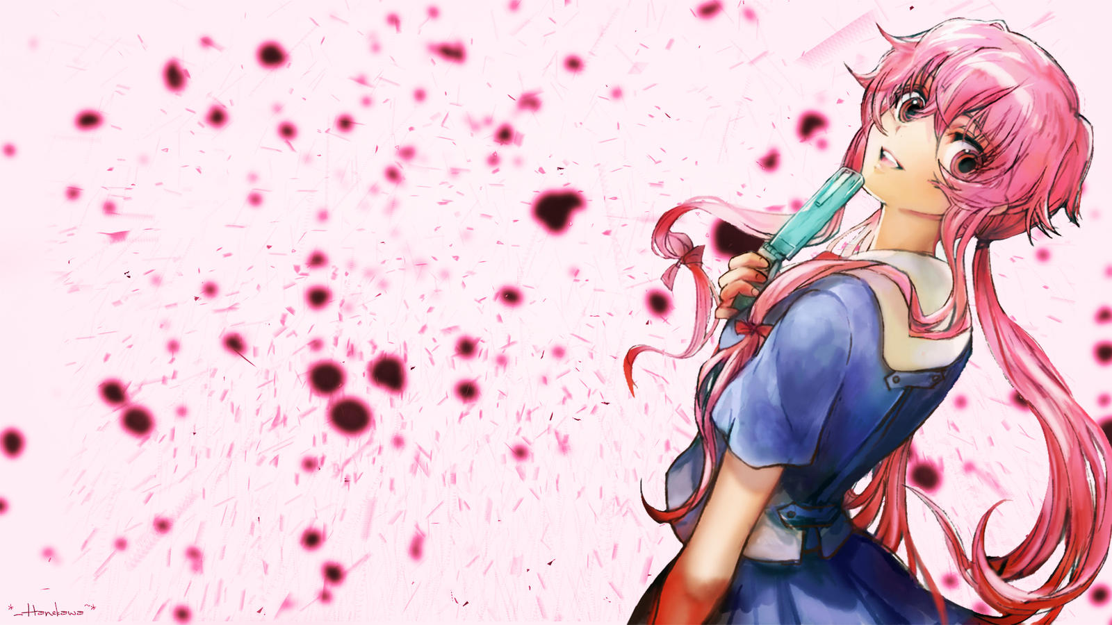 Gasai Yuno Wallpaper: Yuno Gasai Wallpaper[1920x1080] By Han3kawa On DeviantArt