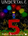 Undertale 5th Anniversary by serubeena