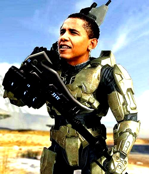 Obama Master Chief Improved by thejangodarkblade on DeviantArt