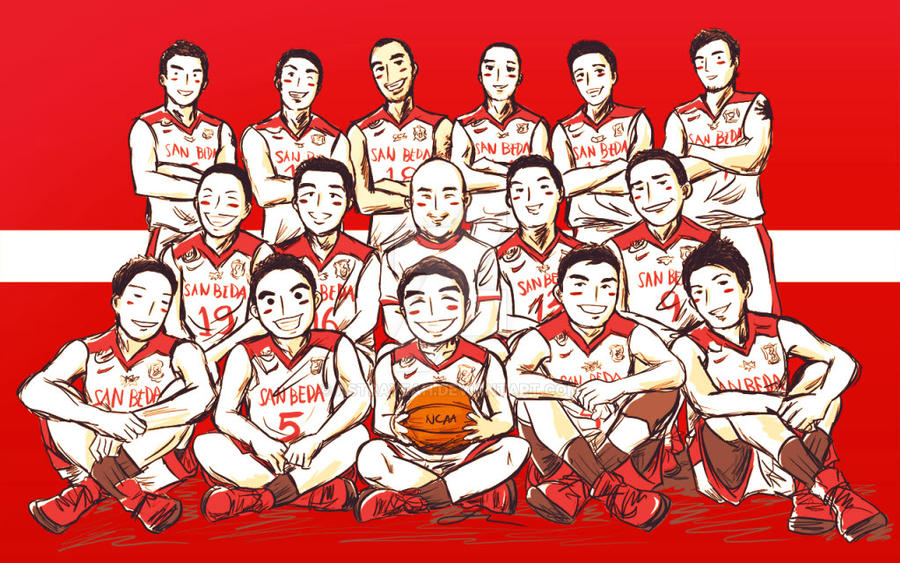 san beda red lions caricature by astrayeah on deviantart