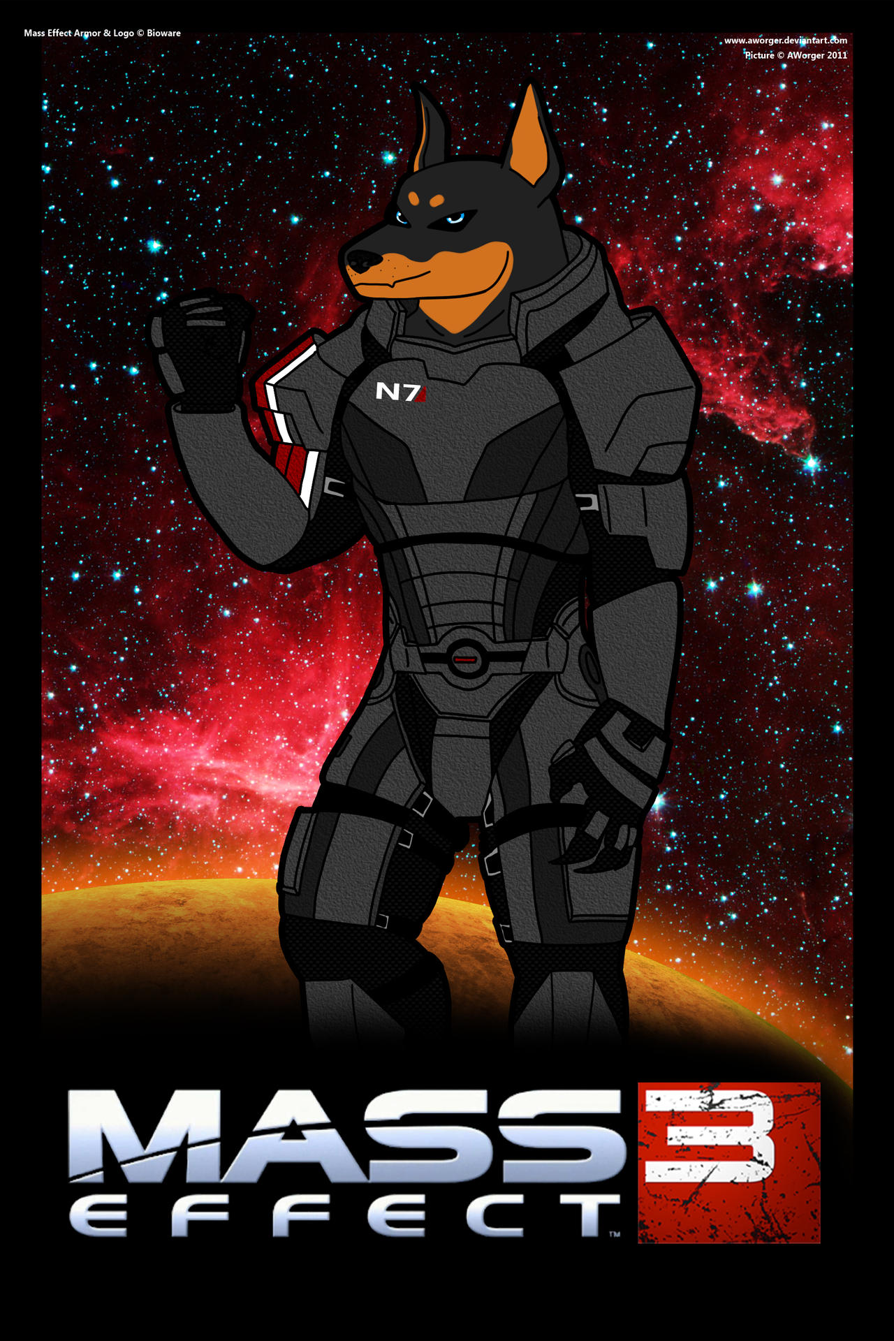 Mass Effect Doberman by AWorger
