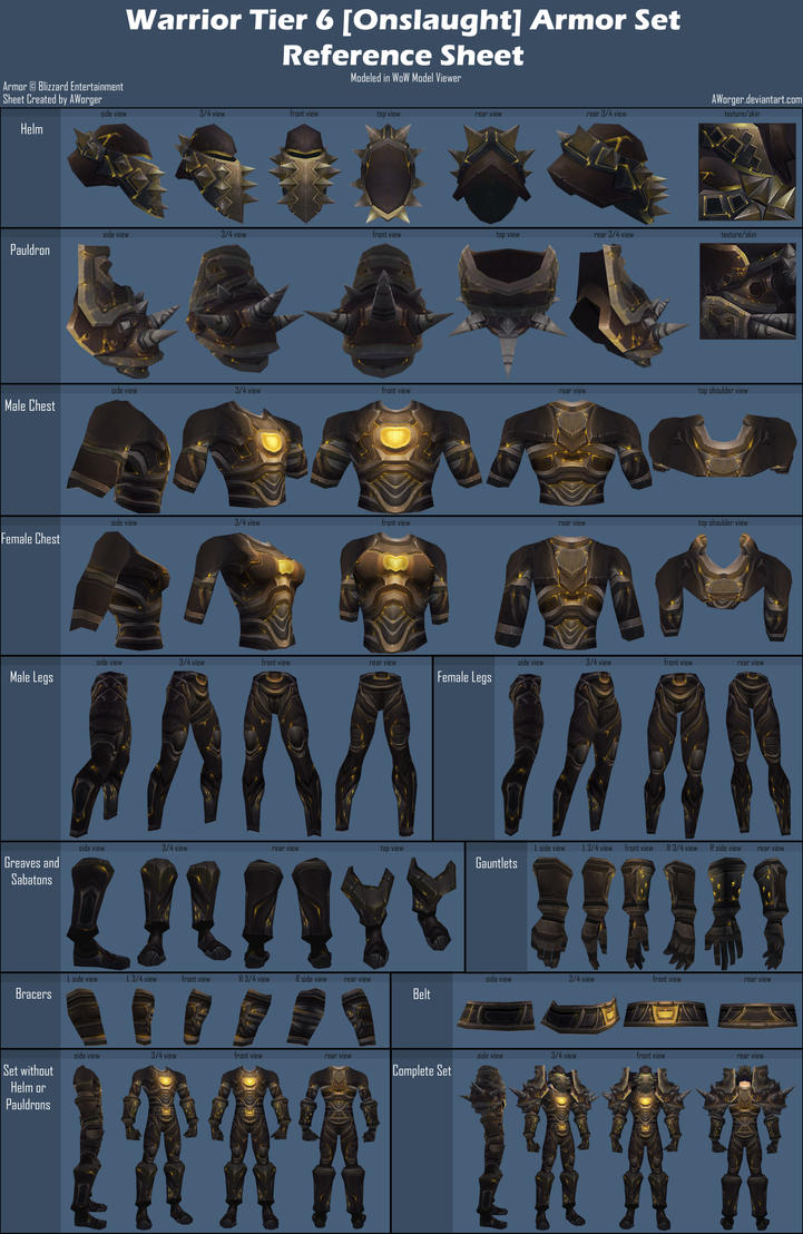 Warrior Tier 6 [Onslaught] Reference Sheet by AWorger on DeviantArt