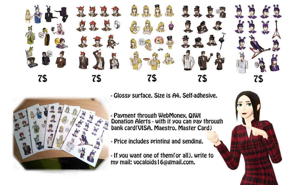 FNaF Stickers. You can buy them!