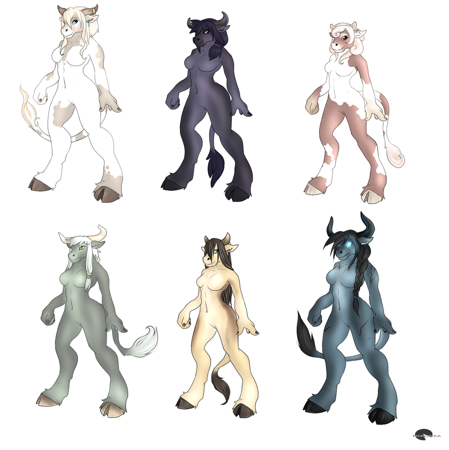 Tauren females adoptables by Shalinka