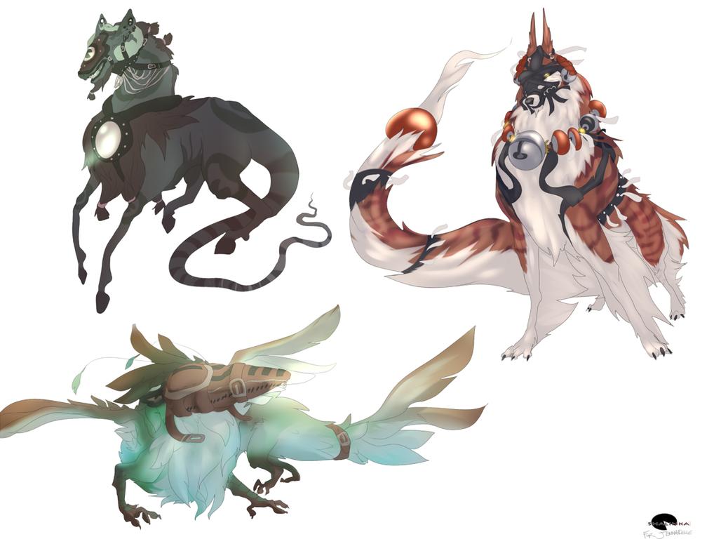 Monster designs by shalinka on deviantart for Decorations monster hunter world