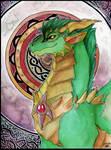 Kitchi the green dragon.